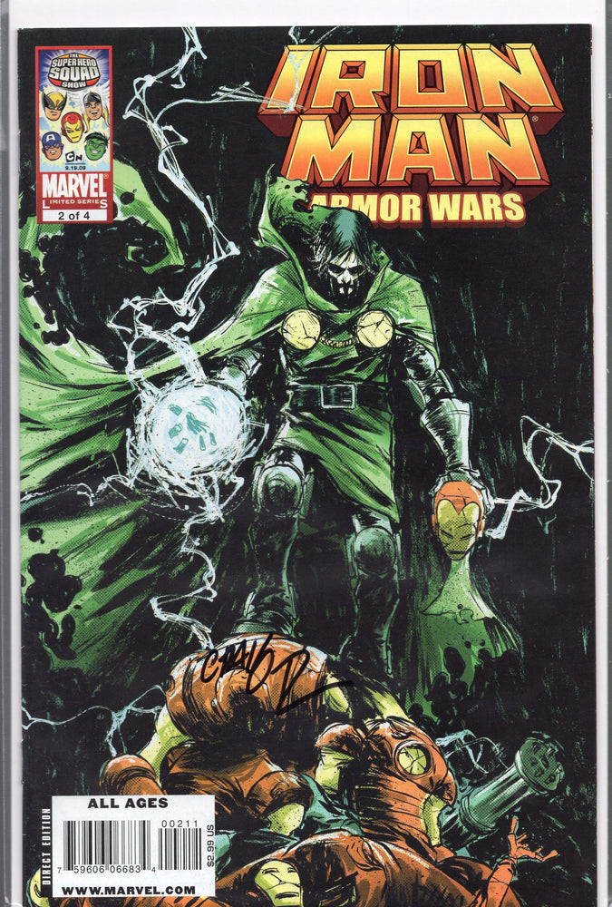 Marvel Iron Man Armor Wars #2 Signed by Craig Rousseau with COA