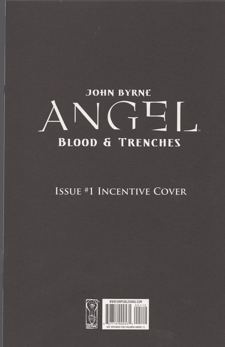 IDW Angel Blood and Trenches #1 Retailer Incentive