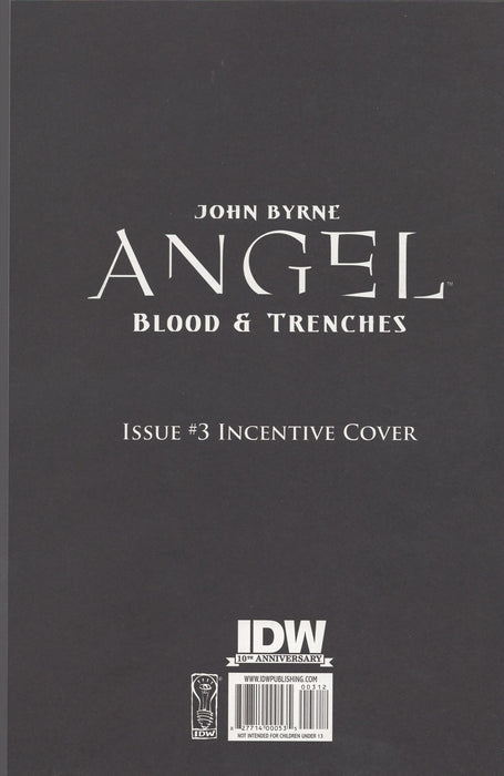 IDW Angel Blood and Trenches #3 Retailer Incentive