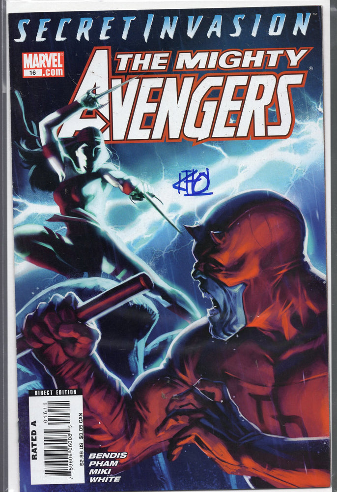 Marvel Secret Invasion The Mighty Avengers #16 Signed by Khoi Pham with COA