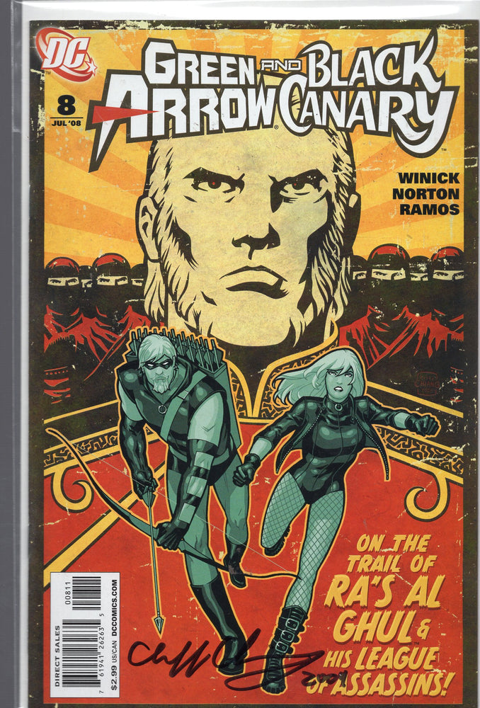 DC Comics Green Arrow and Black Canary #8 Signed By Cliff Chiang with COA