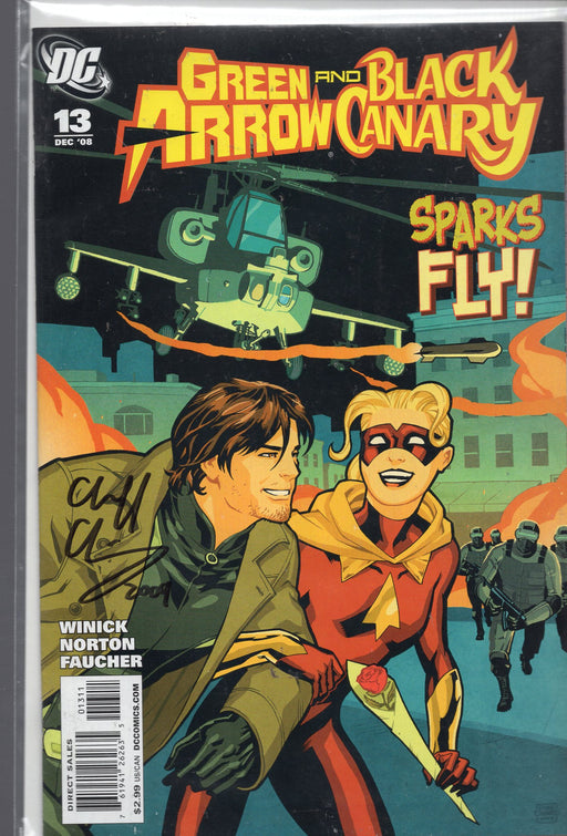 DC Comics Green Arrow and Black Canary #13 Signed By Cliff Chiang with COA