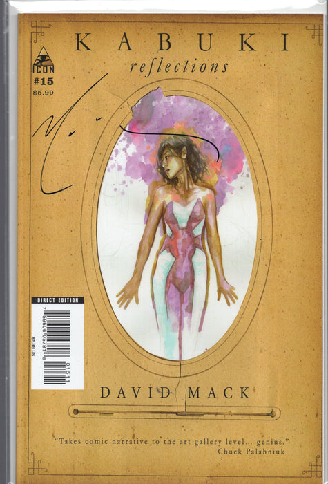 Icon Comics Kabuki Reflections #15 Signed by David Mack with COA