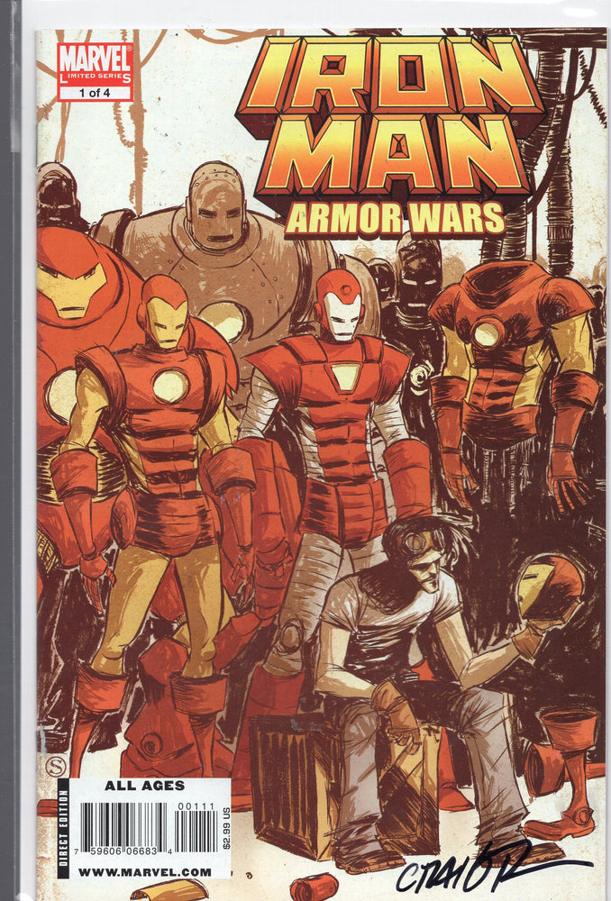 Marvel Comics Iron Man Armor Wars #1 Signed by Craig Rousseau with COA