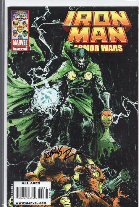 Marvel Comics Iron Man Armor Wars #2 Signed by Craig Rousseau with COA