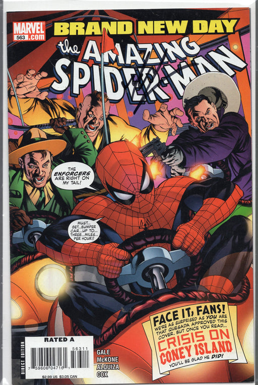 Marvel Comics The Amazing Spider-Man #563 Signed by Mike McKone with COA