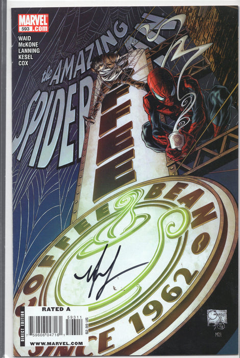 Marvel Comics The Amazing Spider-Man #593 Signed by Mike McKone with COA