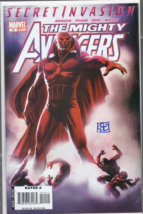 Marvel Secret Invasion The Mighty Avengers #14 Signed by Khoi Pham with COA