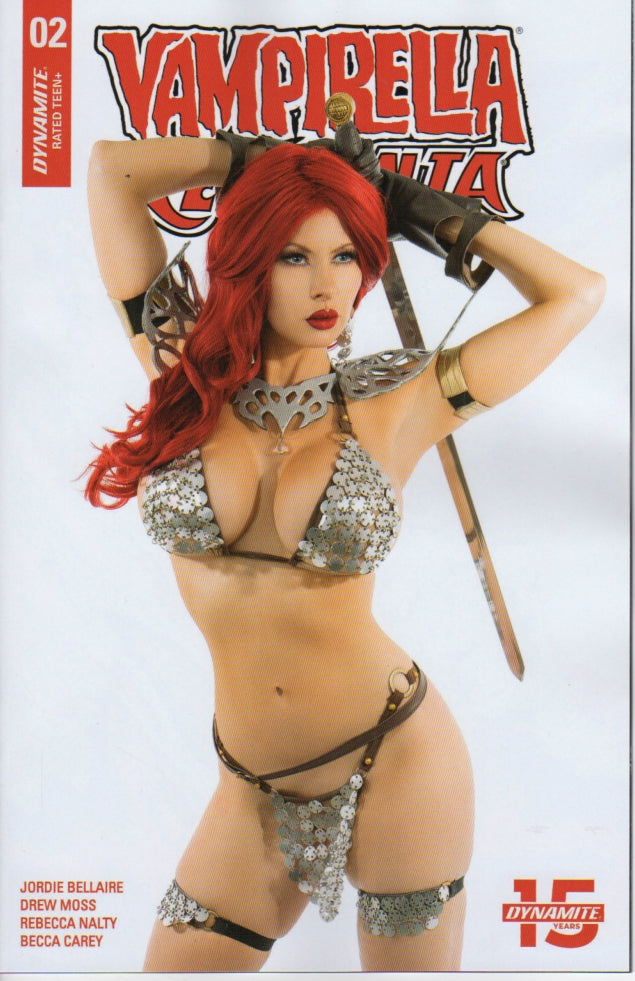Dynamite Comics  Vampirella / Red Sonja #2 Ireland Reid Photo Cosplay Great Find Comics Exclusive Ltd to 500 Copies | Great Find Collectibles