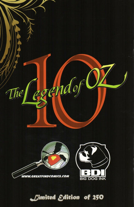 Big Dog Ink The Legend of OZ #10 Great Find Comics Exclusive Ltd to 250 Copies | Great Find Collectibles