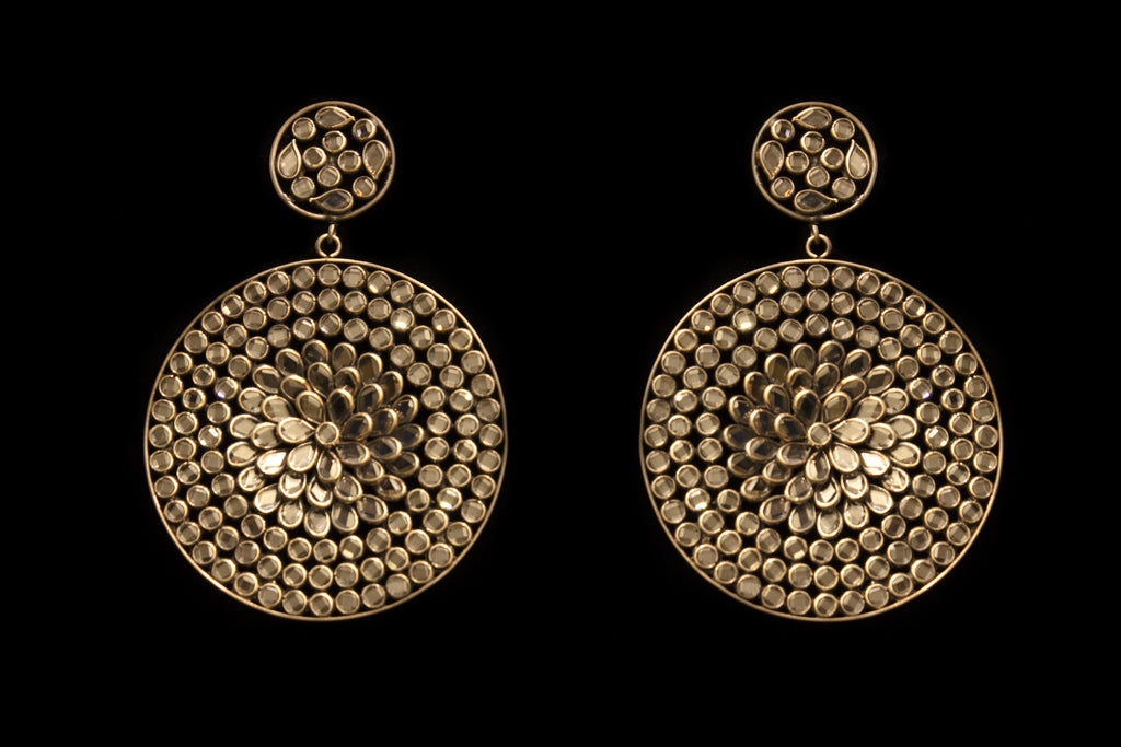 Ragini Silver Large Round Earrings