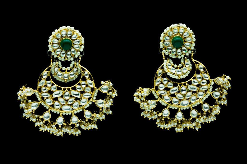 Tusti Chand Bali Kundhan Earrings