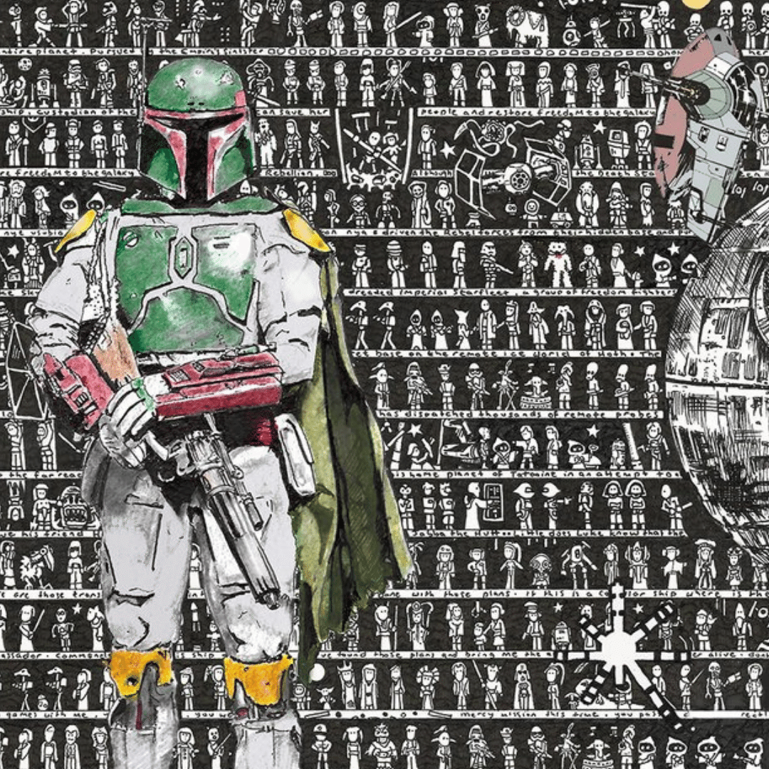 Win a Limited Edition Star Wars, Boba Fett Art - Signed by the Artist