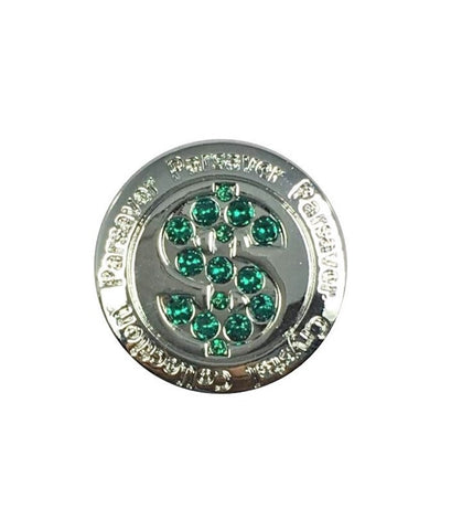 Parsaver Golf - Dollar II Golf Ball Marker embellished with crystals from Swarovski®