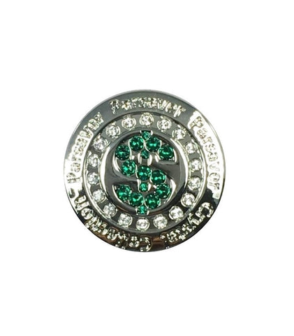 2a. Dollar $ Ball Marker embellished with crystals from Swarovski®