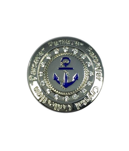 9b. Navy Ball Marker embellished with crystals from Swarovski®