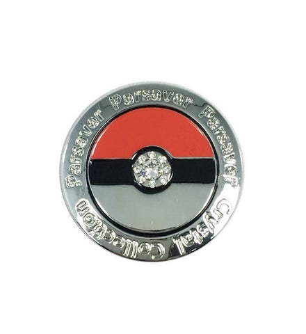8. Pokemon Ball Marker embellished with crystals from Swarovski®