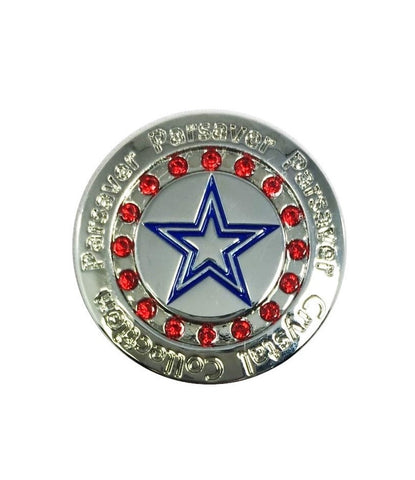 Parsaver Golf - USA Golf Ball Marker embellished with crystals from Swarovski®