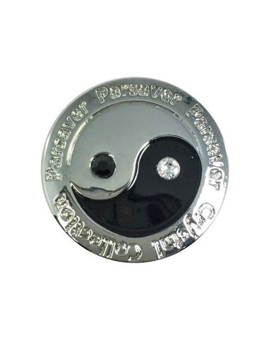 Parsaver Golf - Ying Yang Golf Ball Marker embellished with crystals from Swarovski®