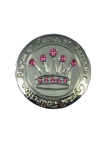 6. Parsaver Crown Ball Marker embellished with pink crystals from Swarovski®