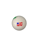 Players Golf Divot Repair Tool - USA Flag Golf Ball Stencil - Ball Marker Divot Tool