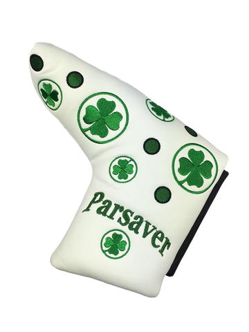 Parsaver Golf Deluxe Putter Cover - Lucky Clover (White)  -