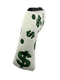 Parsaver Golf - Deluxe Putter Cover - Money $ (White)