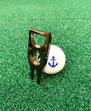 Parsaver Golf - Players Golf Divot Repair Tool - USMC Ball Marker Divot Tool Gadget - Marine Anchor Golf Ball Stencil - Course Accessories -NEW!!!