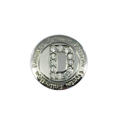 Letter D Ball Marker embellished with crystals from Swarovski®