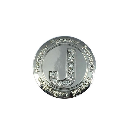 Letter J Ball Marker embellished with crystals from Swarovski®