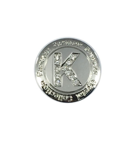 Letter K Ball Marker embellished with crystals from Swarovski®