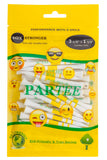 "Parsaver Golf - PARTEE 3 1/4"" & 1 1/2"" - Practically Unbreakable Tour Golf tees - Fun Emoji Golf"