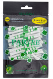 "2. PARTEE 3 1/4"" & 1 1/2"" Tees- Practically Unbreakable Tour Golf Tees - Lucky Shamrock Golf"