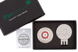 Parsaver Golf - Bullseye Golf Ball Marker embellished with crystals from Swarovski®