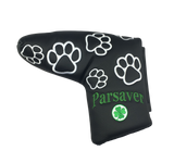 2h. Parsaver® Deluxe Putter Cover - PAW (Black)  -