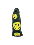 2d. Parsaver® Deluxe Putter Cover - Smiley (Black)