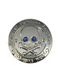 5. Parsaver Skull & Bones Golf Ball Marker embellished with crystals from Swarovski®