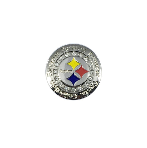 Parsaver Golf - Steelers Ball Marker embellished with crystals from Swarovski®