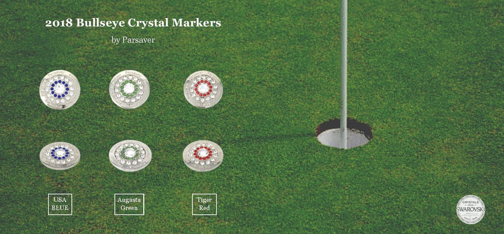 BULLSEYE GOLF BALL MARKER EMBELLISHED WITH CRYSTALS FROM SWAROVSKI®