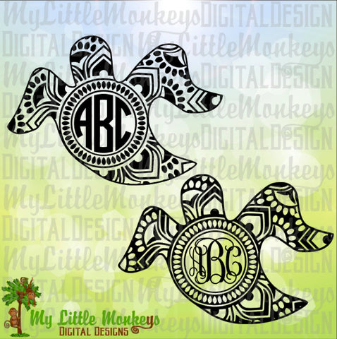 Ghost Mandala Monogram Base, Halloween Design, Digital Clipart and Cut File Jpeg Png SVG EPS DXF Instant Download