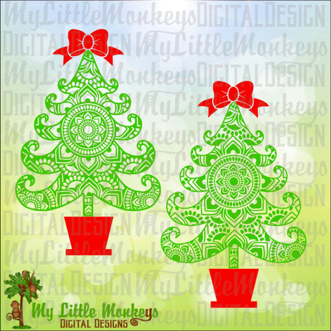 Christmas svg ~ Mandala SVG ~  Christmas Tree SVG ~ Christmas Tree Mandala ~ Tree svg ~ Commercial Use SVG ~ Cut File ~ Clipart ~dxf-eps-png