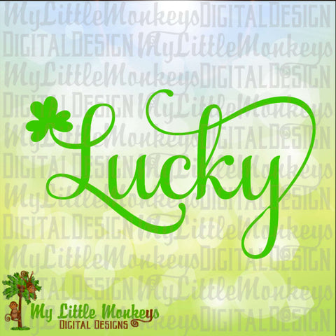 St. Patrick's Day St. Paddy's Day Lucky Shamrock Design Digital Clipart Instant Download Full Color Jpeg SVG EPS DXF Png Files