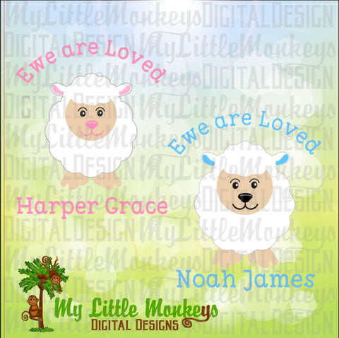 Lamb SVG ~ Ewe Are Loved ~ You Are Loved SVG ~ Baby Lamb ~ Nursery Art ~ Easter svg ~ Commercial Use SVG ~ Cut File ~ Clipart ~ dxf-eps-png