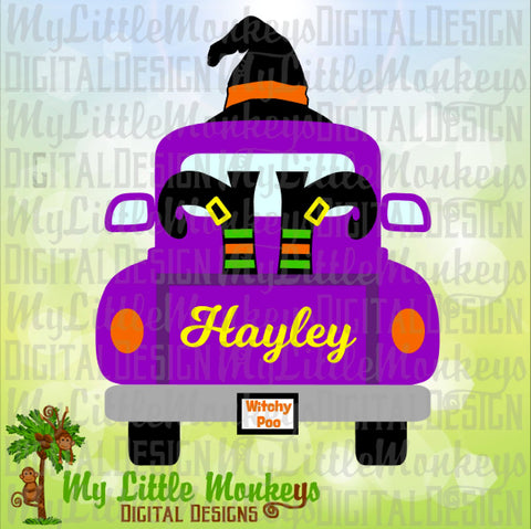 Truck SVG ~ Witch Hat SVG ~ Vintage Truck svg ~ Witch Shoes ~ Kids svg ~ Halloween svg ~ Commercial Use SVG ~ Clipart ~ Cut File eps dxf png