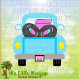 Truck SVG, Tubing, River Tubing, Tubing Shirt, Truck with Tubes, Floatin' on the River, Summer SVG, Commercial Use SVG, Clip Art, Cut File eps dxf png