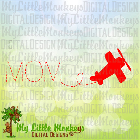 Airplane SVG, Airplane Birthday, Plane SVG, Mom Airplane svg, Mom svg, Birthday svg, Commercial Use SVG, Cut File, Clipart, dxf, eps, png