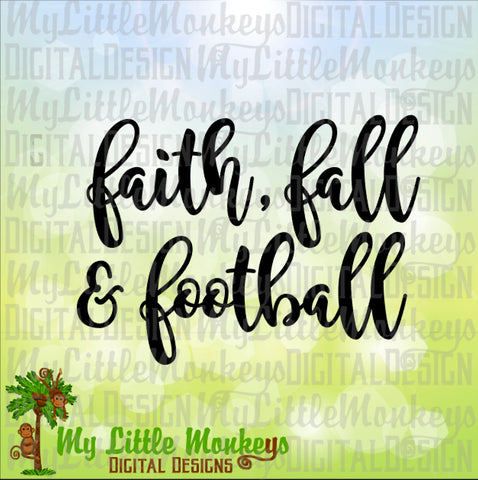 Football SVG, Faith, Fall & Football SVG, Football Shirt, Fall svg, Faith svg, Commercial Use SVG, Clip Art, Cut File, svg, eps, dxf, png