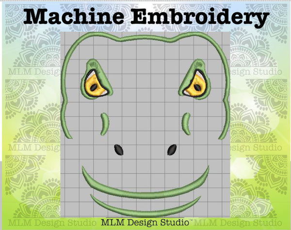 Brontosaurus Face 5 x 7 Sketch Embroidery Design Instant Download