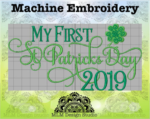 First St Patrick's Day 5 x 7 Sketch Embroidery St. Patrick's Day Design Instant Download