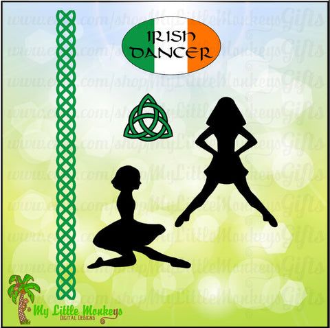 Irish Dance Bundle with Elements, Costume, Ghillies and Irish Dance Mom Designs Commercial Use SVG Cut File & Clip Art Instant Download